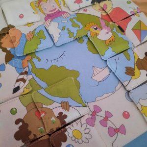 puzzle tissu autour du monde